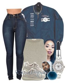 """""""..."""" by xbad-gyalx ❤ liked on Polyvore featuring Rolex, River Island, adidas Originals, Lipsy and Reeds Jewelers"""