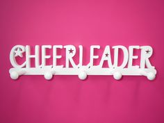 Cheerleader Medal Holder, Cheerleader Medal Display, Cheerleader bedroom accessories, Cheer gift, Cheerleading, Cheer wall decor, WHITE
