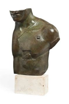 Igor Mitoraj (Polish, b.1944) Asclepios signed 'Mitoraj' (lower front right) and stamped '995/1000 H.C.' (on the reverse) patinated bronze 15 in. (38 cm.) high