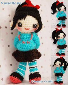 Ohana Craft: Vanellope crochet amigurumi PDF Pattern