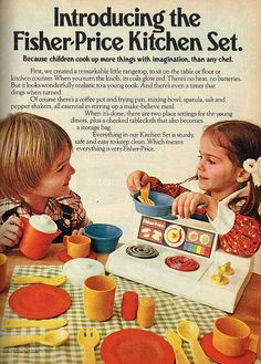 Introducing the Fisher-Price Kitchen Set. #vintage #1970s #1980s #toys #nostalgia