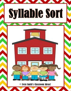 Picture of Fern Smith's Free Back to School Syllable Sort Sample!