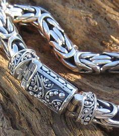 Byzantine Royalty Silver Bali Bracelet
