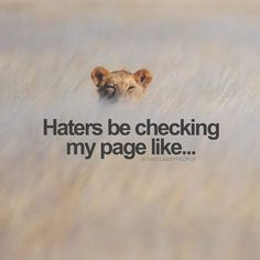 Haters Be Checking My Page Like life quotes life life quotes and sayings life inspiring quotes life image quotes