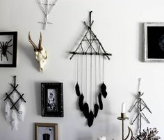 BabaYaga . pagan wall-hanging dreamcatcher by BoudoirDuChaman: