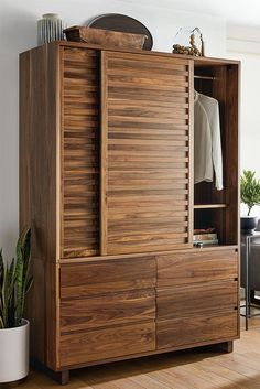 Reminiscent of Tansu Japanese design, Komo combines Asian influence with modern functionality. You can detach the top cabinet from the bottom, making it easy to move or fit anywhere in your home.