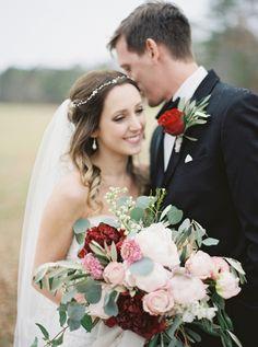 Rustic wedding bouquet: http://www.stylemepretty.com/little-black-book-blog/2017/01/27/rustic-romantic-georgia-winter-wedding/ Photography: Simply Sarah - http://simplysarah.me/