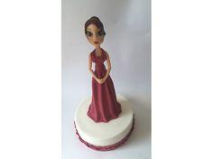 Girl velvet fondant #Cake