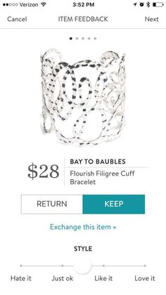 Stitch Fix Bay to Baubles Bracelet cuff