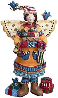 Debbie mumm christmas shopping angel figurine folk art  sc 1 st  Pinterest & Debbie MUMM Ceramic Short u0026 Stout Santa Teapot | Christmas in August ...
