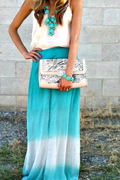 Maxi skirt with nice statement pieces.. Great we look for any occasion...