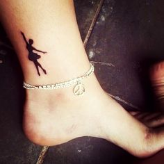 Ballerina Tattoo #want but with my dance studio logo. It is a dancer that looks like this