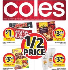 Flicking thru the #coles catalogue & there seems to be just as many #halfprice #specials as woolies. #onsale 27/4-3/5/16. Depending on what products you buy you can def #savemoney at both big #supermarkets this week.  #groceryshopping #bargainbuy #savvyshopper #onabudget #apr16 #may16 @colessupermarkets @budget_mum_blog