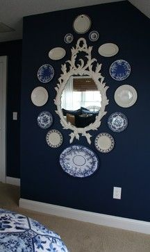 Blue And White Plates Design Ideas Pictures Remodel Decor Hanging
