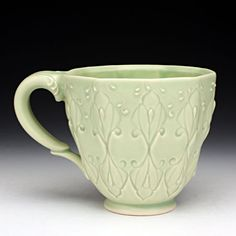 Kristen Keiffer love the handle, the glaze detail and even the color