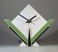 Echo Of Deco Art Deco Inspired Ceramic Marconi 3 Mantel Clock in Antiques, Periods/Styles, Art Deco | eBay