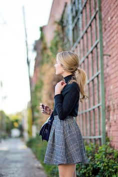 fall plaid skirt |