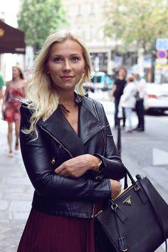 Prada Saffiano Lux Tote Nero Black, leather jacket