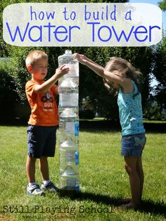 Plastic Bottle Water Tower for Kids from Still Playing School