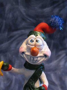 Snowman Christmas Tree Polymer Clay. $58.00, via Etsy.