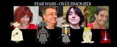Ilustrações Catita Design: Star Wars, os últimos Jedi em família nesta 4af em...