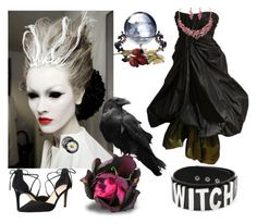 """Which Witch Zazzle contest"" by julemstudio ❤ liked on Polyvore featuring Alexander McQueen, Killstar, Tahari, contest and witch"