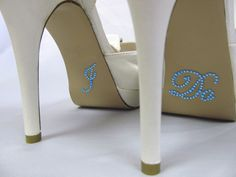 I Do Shoe Stickers  Bridal Blue Rhinestone I by RegalRhinestones, $8.95