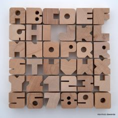 6 Holzbuchstaben nach Wahl von kleinHOLZ und kleinKUNST auf DaWanda.com