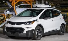 The Chevrolet Bolt EV test vehicle that is the subject of the lasuit.