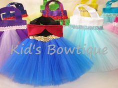 8 Disney Frozen Princesses Inspired Party Favor Tutu Bags -  Frozen Movie Theme Birthday Bags on Etsy, $87.60