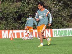 Fred Treino do  Fluminense na Florida(Foto: Richard Souza)