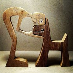 Woodworking Projects Scultura legno smerlato un uomo un cane di su Etsy - height: 11 cm width: 12 cm thickness: 2 cm the dog it is walnut, beech or maple man. man wants to go out to walk outside but not the dog wants says out there ' too stupid. Diy Wood Projects, Wood Crafts, Woodworking Projects, Diy And Crafts, Projects To Try, Woodworking Furniture, Dog Sculpture, Metal Sculptures, Abstract Sculpture