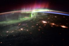 British astronaut Tim Peake snapped a series of stunning aurora borealis photos from the International Space Station.