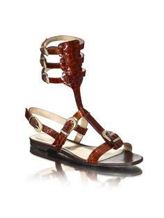 Inspiration Croco Gladiator Sandal   Ref. 4853/00 #shoespaulobrandão #PAULOBRANDÃO