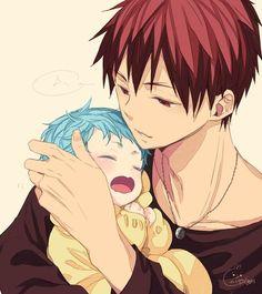 ~ Kuroko no basket ~ :: Baby Kuroko & Taiga Kagami