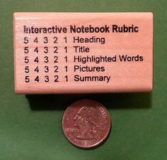 Interactive Notebook Rubric 54321, Teacher's Wood Mounted Rubber Stamp in | eBay