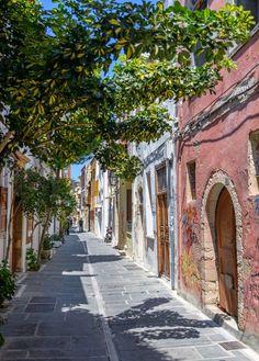 Old Town Of Rethymnon Crete Greece