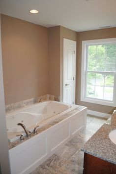 Benjamin Moore Cotswold - Welcome to the Funny Farm: Master Bath