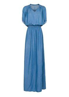 MANGO - Langes Denim-Kleid