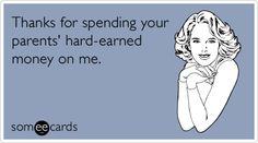 Thank You card for any gift from an unemployed person.