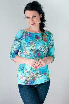 Li-La tričko Barevná jarní novinka Tunic Tops, Blouse, Women, Fashion, Blouse Band, Moda, Women's, La Mode, Fasion
