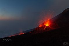 Ventaglio di Lava - Mount Etna eruption - July 2014