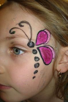 Girl Face Painting, Painting For Kids, Body Painting, Simple Face Painting, Children Painting, Easy Face Painting Designs, Face Painting Tutorials, Simple Face Paint Designs, Easter Face Paint