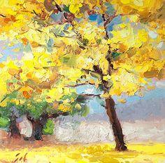 Shinhuey Ho - Yellow Poui- Oil - Painting entry - September 2016   BoldBrush Painting Competition