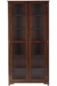 """Oxford 72""""H Bookcase with Glass Doors"""