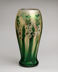 Floral vase by LC Tiffany/Tiffany Furnaces | 1909 | Favrile glass | The Metropolitan Museum of Art