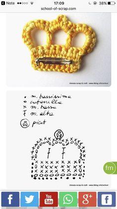 52 Free Crochet Bow Patterns - Her Crochet 52 Free Crochet . 52 Free Crochet Bow Patterns - Her Crochet 52 Free Crochet Bow Patterns - Her Crochet Appliques Au Crochet, Crochet Bow Pattern, Crochet Crown, Crochet Motifs, Love Crochet, Crochet Gifts, Crochet Flowers, Crochet Stitches, Crochet Baby