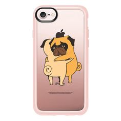 Pug Hugs - iPhone 7 Case And Cover (545 ZAR) ❤ liked on Polyvore featuring accessories, tech accessories, phone cases, iphone case, iphone cover case, iphone cases, clear iphone case and apple iphone case