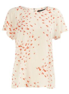 Dorothy Perkins: ivory fish print tee  Simple without being boring