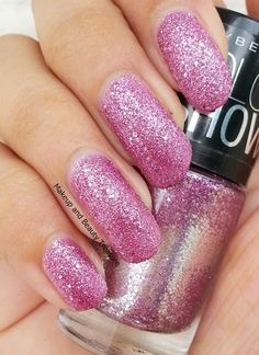 Maybelline Color Show Glitter Mania Nail Polish in Matinee Mauve Review & Swatches   Makeup and Beauty Treasure